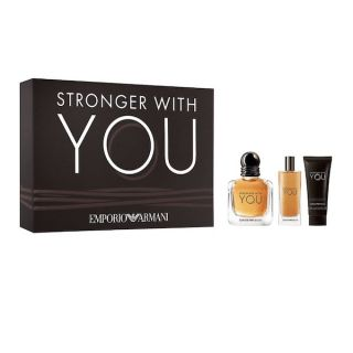 Emporio Armani Stronger With You EDT 100ml 3-Piece Gift Set For Men
