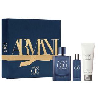 Giorgio Armani Acqua di Gio Profondo EDP 75ml 3-Piece Gift Set For Men