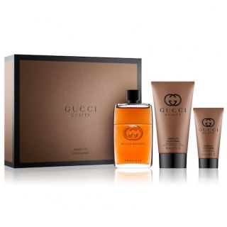 Gucci Guilty Pour Homme Absolute EDP 90ml 3 Piece Gift Set For Men