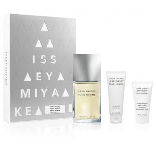 Issey Miyake L'Eau D'Issey Pour Homme EDT 100ml 3 Piece Gift Set Perfume