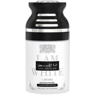 Lattafa Ana Abiyedh I am White 250ml Deodorant Spray