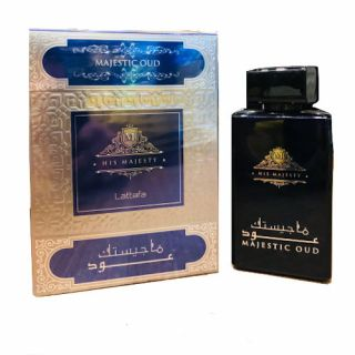 Lattafa Majestic Oud EDP 100ml Perfume, buy oud perfumes in Nigeria at fragrances.com.ng