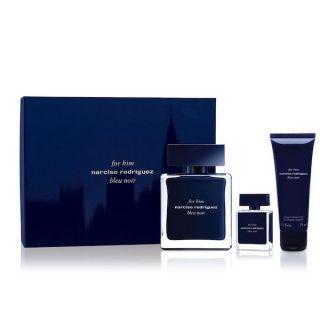 Narciso Rodriguez Blue Noir EDT 100ml 3-Piece Gift Set For Men