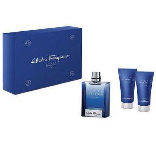 Salvatore Ferragamo Acqua Essenziale Blu EDT 3-Piece Gift Set For Men