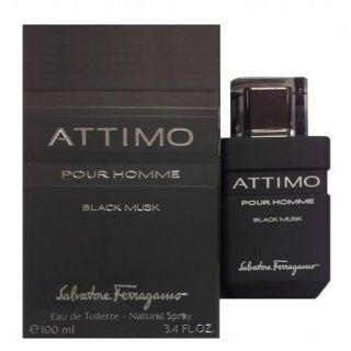 Salvatore Ferragamo Attimo Black musc EDT 100ml Perfume For Men