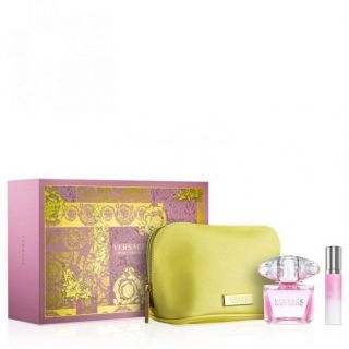Versace Bright Crystal EDT 90ml 3-Piece Gift Set For Women