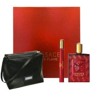 Versace Eros Flame EDP 100ml 3-Piece Gift Set For Men
